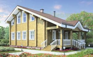 Проекты домов из клееного бруса